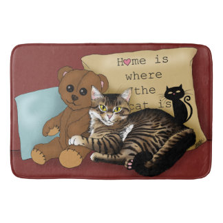 Home is Where the Cat is... Bath Mat