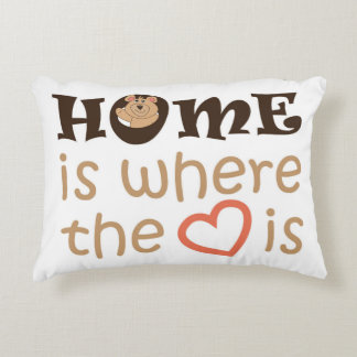 Home is where the heart is quote design decorative cushion