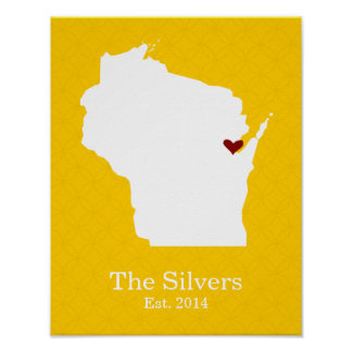 Home is Where Your Heart Is - Wisconsin Poster