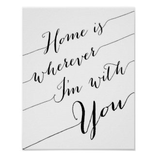 Home is wherever I'm with you poster print