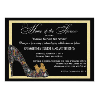 "Home of the Sparrow Fashion Show Reduced 5"" X 7"" Invitation Card"