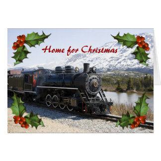 Home on the Train for Christmas Business Card