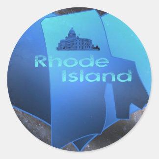Home Rhode Island Round Sticker
