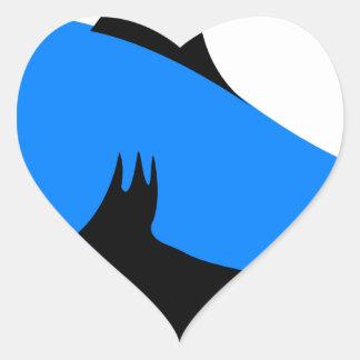 Home shark Office custom personalize business Heart Sticker