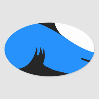 Home shark Office custom personalize business Oval Sticker