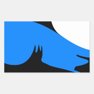 Home shark Office custom personalize business Rectangular Sticker