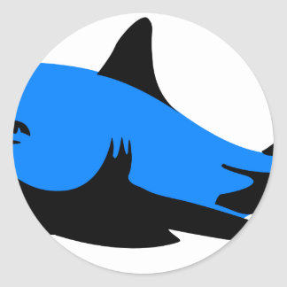 Home shark Office custom personalize business Round Sticker