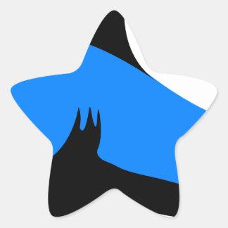 Home shark Office custom personalize business Star Sticker