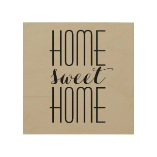 Home Sweet Home Custom Color Wood Wall Art
