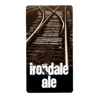 Homebrew Labels Irondale Ale Chicago Yard Trains