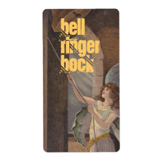 Homebrewing Beer Bottle Label Angel Bell Tower Shipping Label