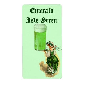 Homebrewing Beer Label Irish Green St Patricks Day