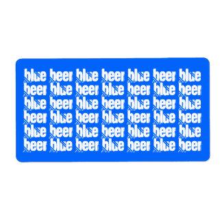 Homebrewing Blue Beer Labels HomeBrew Blueberry