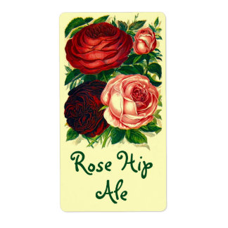 Homebrewing Labels Beer Wine Rose Hip Roses