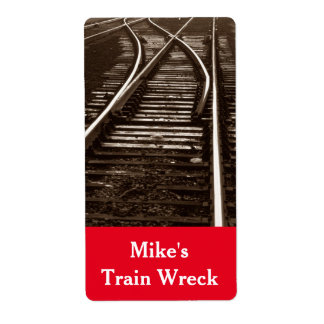 Homebrewing Labels Train Wreck Beer Brewing Ale