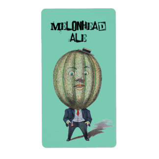 Homebrewing Supplies Beer MelonHead Ale Brew Label Shipping Label