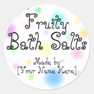 Homemade Bath Salts Customizable Labels Round Sticker