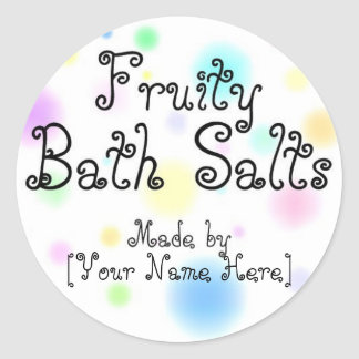 Homemade Bath Salts Customizable Labels Round Stickers