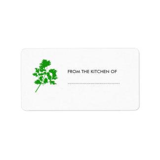 Homemade Kitchen  Goodies Address Label