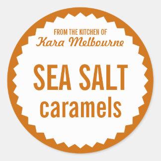 Homemade Sea Salt Caramel Label Template Sticker