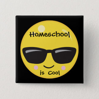 Homeschool is Cool 15 Cm Square Badge