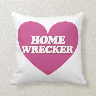 Homewrecker Heart Throw Pillows