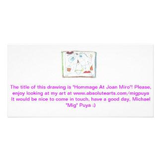 Hommage At Joan Miro Photo Card