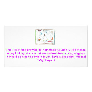 Hommage At Joan Miro Photo Cards