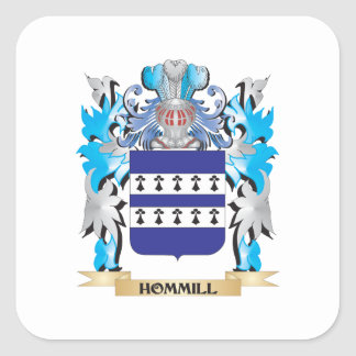 Hommill Coat of Arms - Family Crest Square Sticker