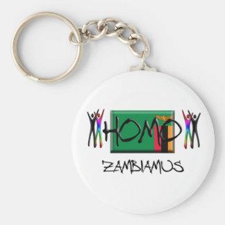 Homo Zambia Basic Round Button Key Ring