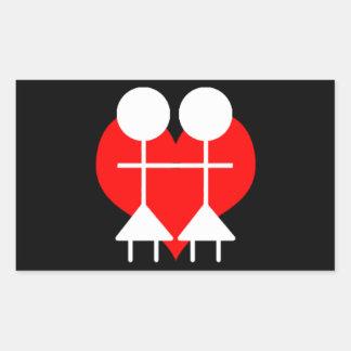 Homosexual - Lesbian Rectangular Sticker
