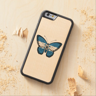 Honduras Butterfly Flag Carved Maple iPhone 6 Bumper Case