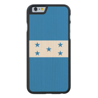 Honduras Flag Carved Maple iPhone 6 Case