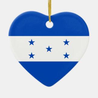 Honduras Flag Heart Ornament