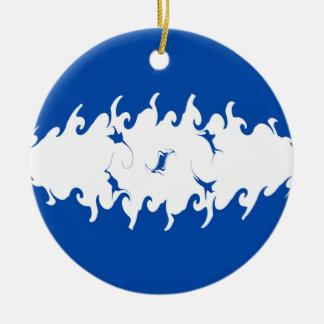 Honduras Gnarly Flag Christmas Ornament