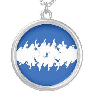 Honduras Gnarly Flag Round Pendant Necklace
