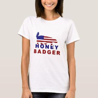 honey badger american flag T-Shirt