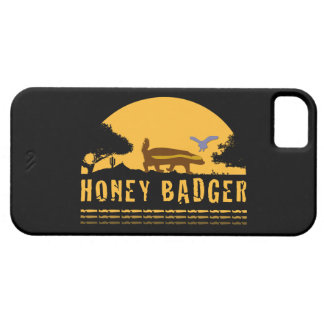 Honey Badger and Bird Sunset Black iPhone5 Case iPhone 5 Cover