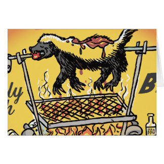 Honey Badger BBQ Card