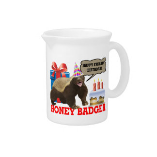 Honey Badger Happy Freakin' Birthday Pitcher