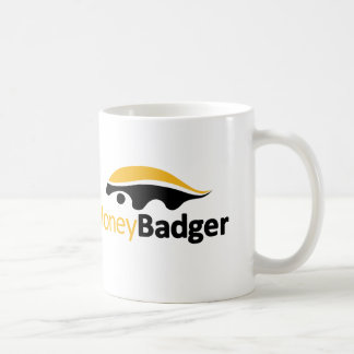 Honey Badger Logo Basic White Mug