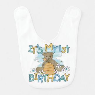 Honey Bear 1st Birthday Bib