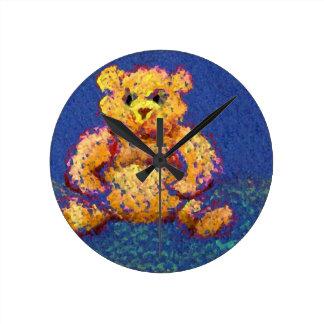 Honey Bear Teddy Bear CricketDiane Cute Bears Wall Clocks