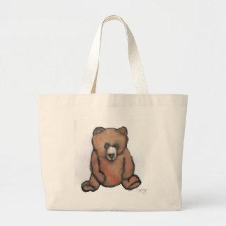 Honey Bear Thinking - CricketDiane Designer Stuff Large Tote Bag