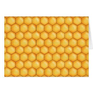 honey bee comb texture card