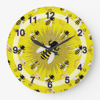 Honey Bee Large Clock