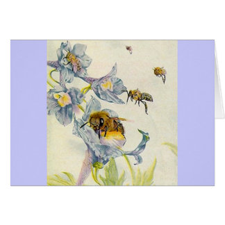 Honey Bees & Wildflowers Lilac Thank You Cards