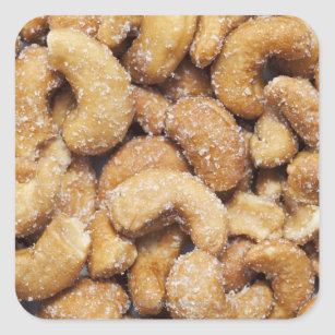 Honey roasted cashew nuts square sticker