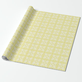Honey Suckle Acorn and Leaf Tile Design Wrapping Paper
