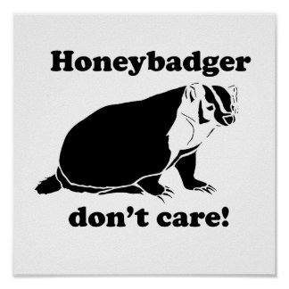 Honeybadger don t care poster